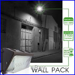 100W 125W LED Wall Pack with Dusk-to-dawn Photocell, Outdoor Commercial Lighting