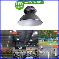 105W 9600lm LED High Bay Light Super Bright 6000K Lamp Fixture Factory Industry