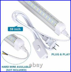 10Pack 8Ft LED Shop Light Fixture, 92W 13000 Lumens 6000K Cold White, Clear Cover
