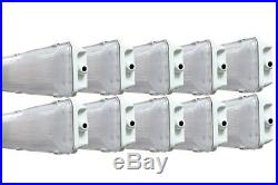 10-PACK 72W 4 Ft. Vapor Water Tight Hardwired LED Fixture 6500K Shop Light IP65