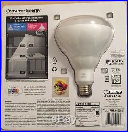 10 X FEIT ELECTRIC DIMMABLE BR40 FLOOD RECESSED LED LIGHT BULBS 75W = 16W 2700K