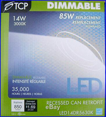 12x LED14DR5630K 5 6 LED 14W 3000K Recessed Can Light Dimmable Retrofit