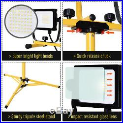 14,000 Lumen LED Work Lights Dual Head Weather Resistant with Tripod Stand