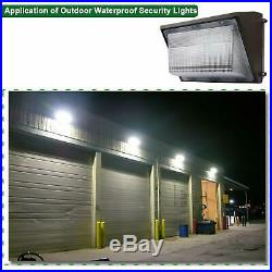 150W 125W LED Wall Pack Commercial Security Light Dusk to Dawn Photocell Lamp