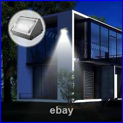 150W LED Wall Pack Lights with Photocell 18000LM Dusk-to-Dawn 5500K Commercial