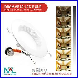 1-72 X 5/6 inch 15W Recessed DownLight Baffle LED Dimmable Retrofit Can Light