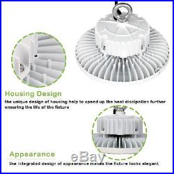 200W White UFO LED High Bay 22000lm 5000K Industrial Waterproof Hanging Light