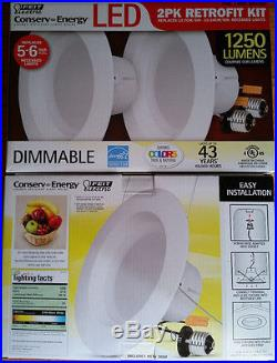 20 New Feit 5-6 inch LED Retrofit Kit 120W uses 21W Soft White Dimmable 2700K
