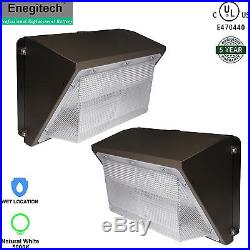 2 Pack LED Wall Pack Light 70W Waterproof Fixture Outdoor Crystal White Glow