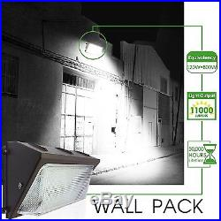 2pk LED 80W WALL PACK 5000K Cool White Outdoor Lighting Industrial Commercial