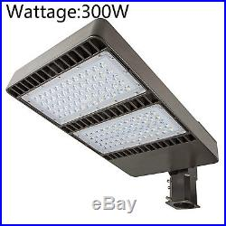 300W LED Fixture Street Parking Lot Pole Light Photocell Outdoor Area Road Lamp