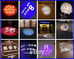 30W LED Rotating Gobo Advertising Logo Projection Laser Lights Lamp Store Hotel