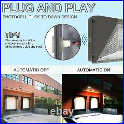 3Pcs 120W LED Wall Pack Outdoor Dawn to Dusk Commercial Security Light 5000K