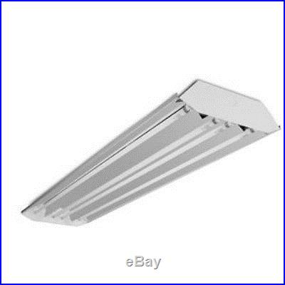 (3) 4 Lamp T5 High Low Bay Fluorescent Light Fixture Garage Shop Curved Profile