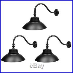 3pcs 14in. Gooseneck Barn Light LED Fixture for Indoor/Outdoor Use Photocell