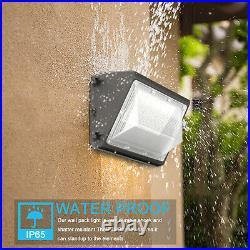 4Pack 120W LED Wall Pack Light Dusk to Dawn Outdoor Security Light with Photocell