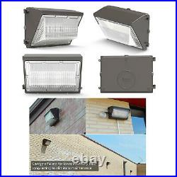 4Pcs 120W LED Wall Pack Light With Photocell Dusk to Dawn Commercial Industrial