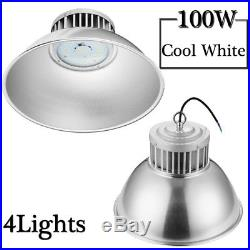 4X 100W LED High Bay Light Commercial Warehouse Industrial Factory Shop Fixtures