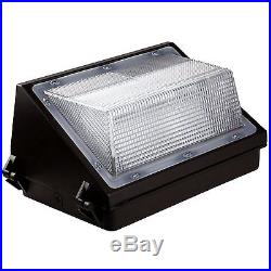 4 Pack 45W LED Wall Pack Outdoor Fixture Waterproof Security Crystal White Glow