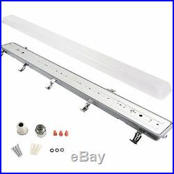 4 Pack Hykolity 4FT LED Vapor and Water Tight Light Fixture 40W80W Equivalent