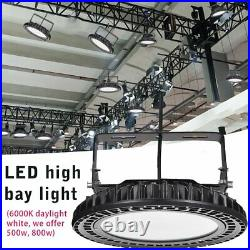 500W 800W UFO LED High Bay Light Commercial Warehouse Factory Lamp Super Bright