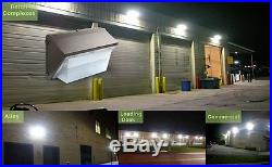5 Pack 70W LED Wall Pack Security Outdoor Mount Barn Area Light Fixture, Bronze