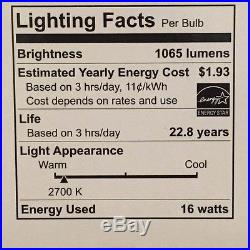 5 X FEIT ELECTRIC DIMMABLE BR40 FLOOD RECESSED LED LIGHT BULBS 75W = 16W 2700K