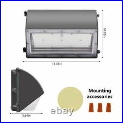 60W LED Wall Pack Light Daylight Dusk to Dawn Photocell Outdoor Wall Light