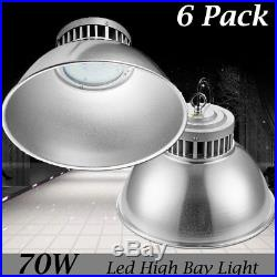 6 Set 70W LED High Bay Lights Commercial Warehouse Industrial Factory Shed Lamp