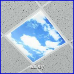 6x LED Sky Panel 48W 600 x 600 Recessed Ceiling Mount Sky Design Print + Driver