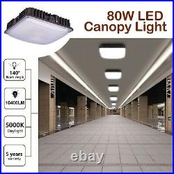 80W LED Canopy Light Gas Station Ceilling Lights Fixture 600W HID/MH Equivalent