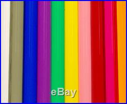 96 T8 8' COLORED Tube Guard Fluorescent Plastic Light Cover Sleeve NEW (QTY 48)