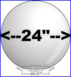 BIG 24 LIGHT GLOBE 2PC WHITE ACRYLIC SPHERE REPLACEMENT Plastic COVERS USA