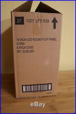 Commercial Electric 15 LED Round Flat Panel 1001 375 539. BOX OF 4 PCS