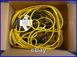 Cord-O-Lite 12/3 100ft Temporary Lighting Molded Light Sockets 10 Ft Increments
