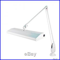 DAZOR 3 BULB JEWELERS LAMP With CLAMP FLOATING ARM DOVE GRAY DAYLIGHT FLUORESCENT