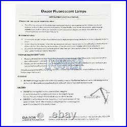 Dazor 3-Tube Fluorescent Clamp Style Jewelers Bench Lamp Light Best Quality