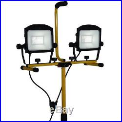 HOMCOM 10000 Lumen Dual Head LED Work Lights Weather Resistant with Tripod Stand