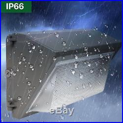 Hykolity 100W LED Wall Pack Commercial Outdoor Security Light 12500lm- 4 Pack