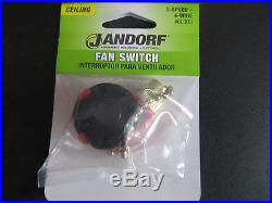 Jandorf 3-Speed Ceiling Fan Switch with pull chain #60303 NEW