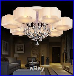 LED Crystal Floral Shade Ceiling Light Living Room Bedroom Lobby Pendant Lamp