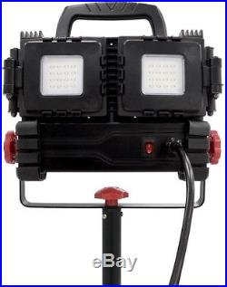 LED Tripod Worklight Stand Up Portable Husky 3200 Lumens Multi Directional