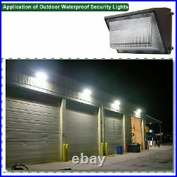 LED Wall Pack Light 150W 18000LM Commercial Industrial Light Fixture with Photocel