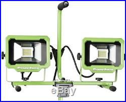 LED Work Light Tripod Stand Up Telescoping Adjustable Jobsite Water Resistant