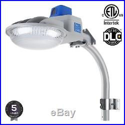 LED Yard Light Security Light 75 Watts Dusk To Dawn 8000 Lumen Photo Cell SILVER