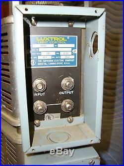 LUXTROL 4000 watt 2-Stage Dimmer System for theaters & home theater Motorized