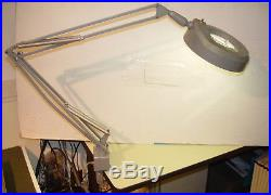 Luxo FL-1 vintage industrial mcm Fluorescent Magnifying Lamp Made in Norway