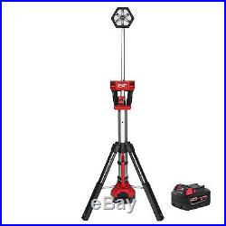 Milwaukee M18 TRUEVIEW LED Stand Light with M18 XC 5.0Ah Battery 2130-20 New