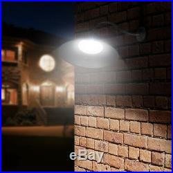 Outdoor Barn Light Fixture, 14 Industrial Gooseneck Lamp with Photocell, 4 Pack