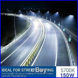 Outdoor Commercial Area Road Light 150W LED Parking lot Light with Photocell SG